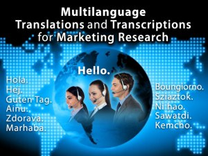 Multilanguage Translations and Transcriptions for Marketing Research